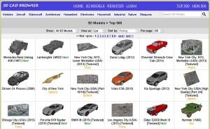 модели 3D CAD BROWSER