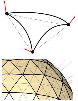 изогнутая плоскость 3D-модели
