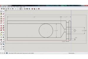 чертеж патрона для 3D-принтера