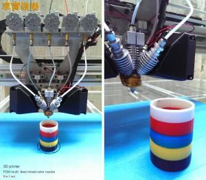 большой CMYKW FDM 3D-принтер 06