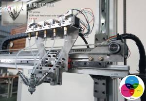 большой CMYKW FDM 3D-принтер 05